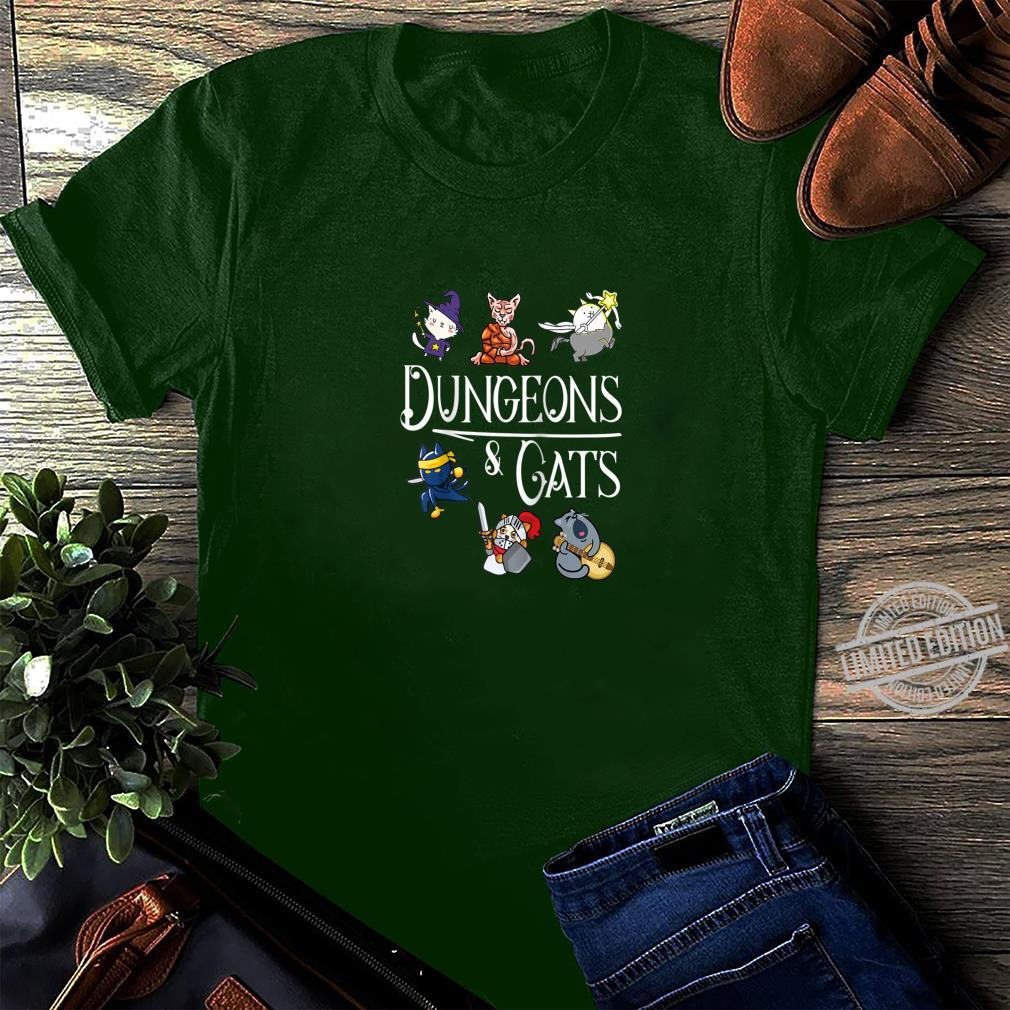 Dungeons and Cats Dragon Cat Kitten Kitty Shirt long sleeved