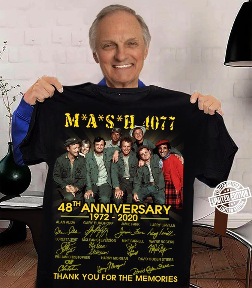 Mash 4077 48th anniversary 1972 2020 thank you for the memories shirt